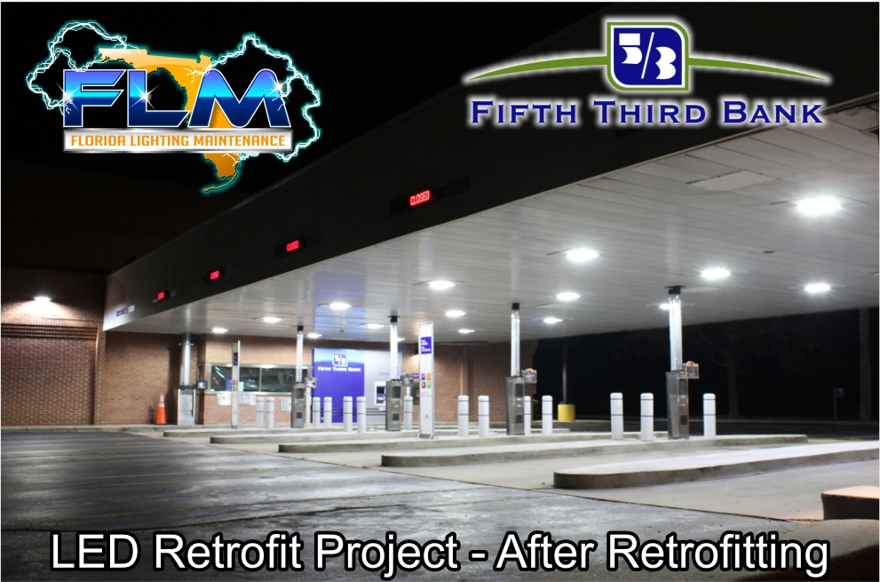 LED Lighting Retrofit and Electrical Services for FifthThird Bank after photo 1