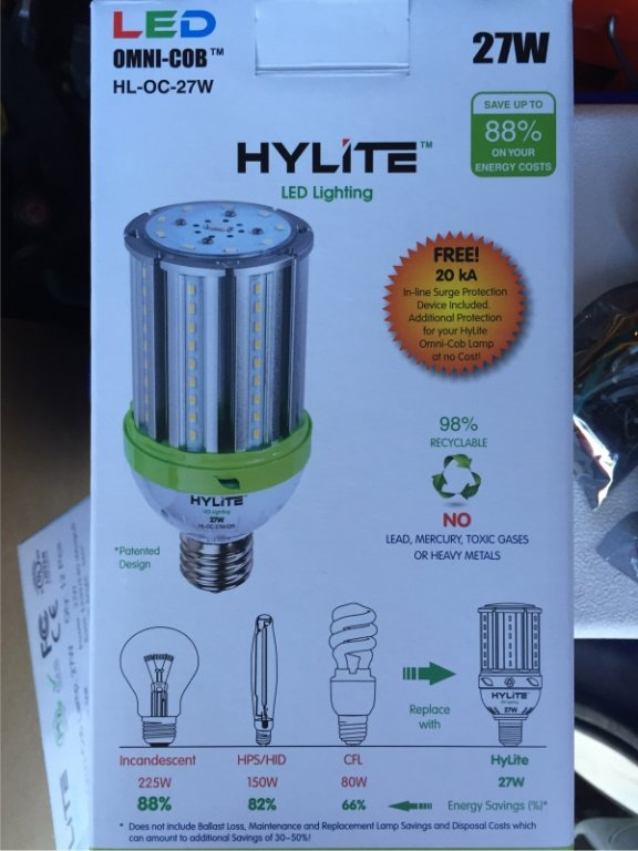 We Stock and Sell this 27w LED HyLite OMNI-COB HL-OC-27W