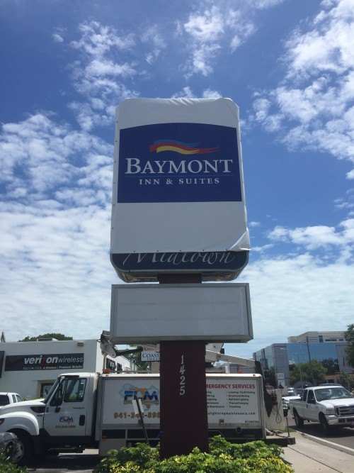Sign Installation services in Clearwater FL for commercial projects