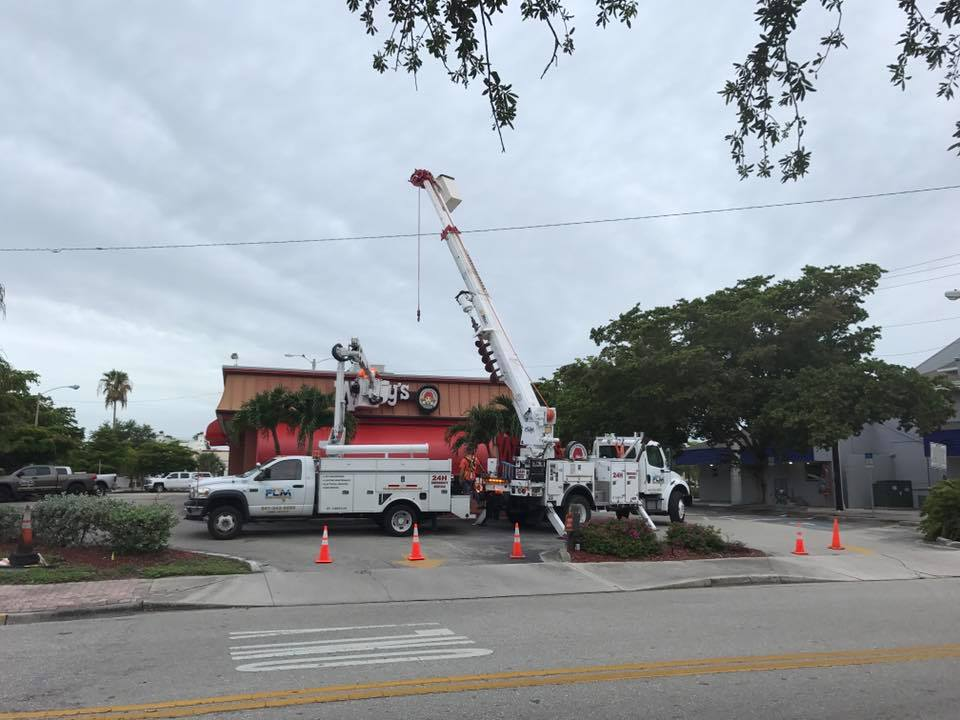 Bucket Truck and Lighting Pole Services services in Samoset FL for Commercial Remodeling and Construction