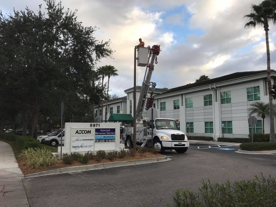 Commercial Parking Lot Lighting Maintenance Contractor services in Palm Harbor FL for your Commercial Remodeling Project