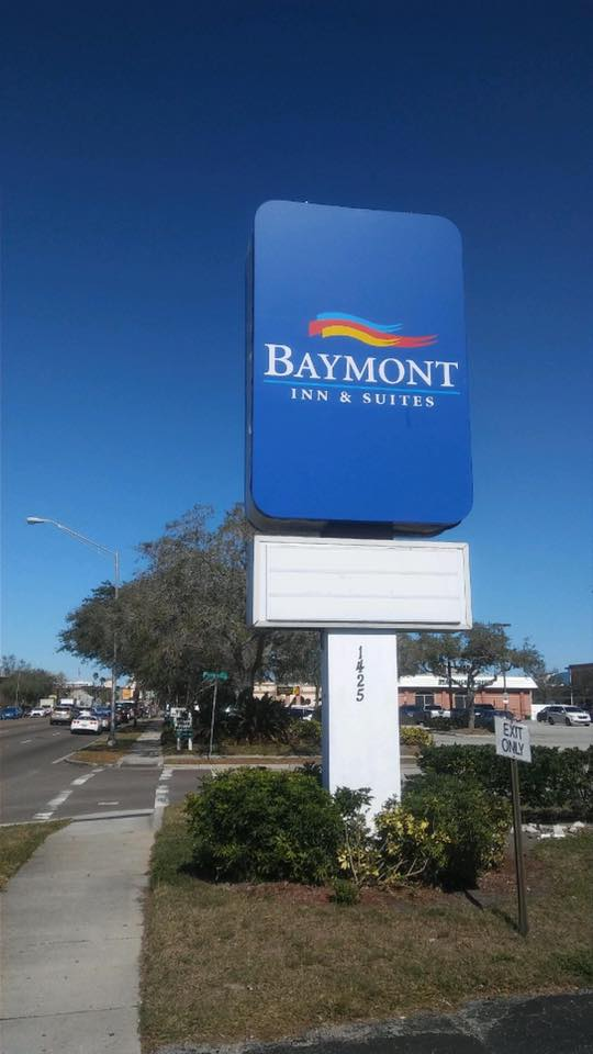 In Holmes Beach FL customers trust their Commercial Construction or Remodeling Project for Exterior Sign Installation to Florida Lighting Maintenance Services Electrical and Lighting hite-glow