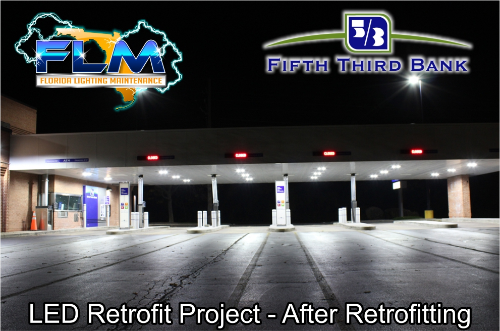 LED Lighting Retrofit and Electrical Services for FifthThird Bank after photo 2