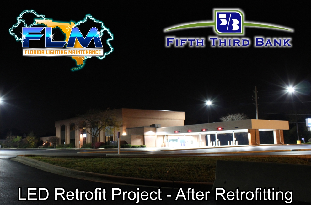 LED Lighting Retrofit and Electrical Services for FifthThird Bank after photo 3